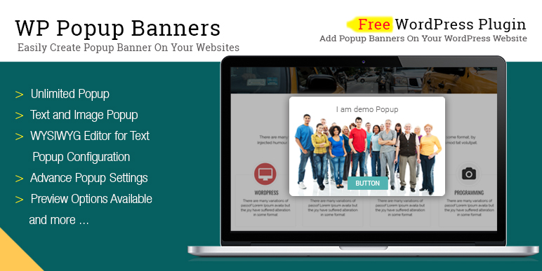 Wp Pop Up Banner